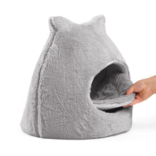 Fur Meow Hut Grey 18""
