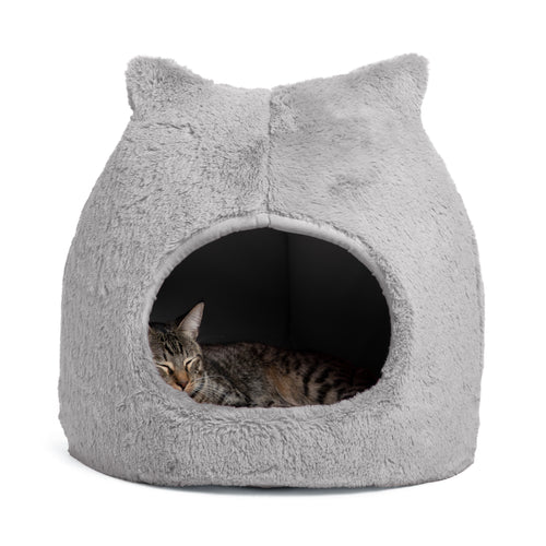 Fur Meow Hut Grey 18