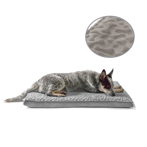 Embossed Bones Nap Mat Grey