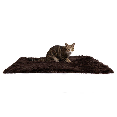 Shag Pet Throw Blanket Dark Chocolate 40x50