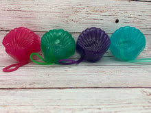 Seashell Mesh Poof Soap on a Rope