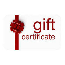Gift Certificates $ Value Amount