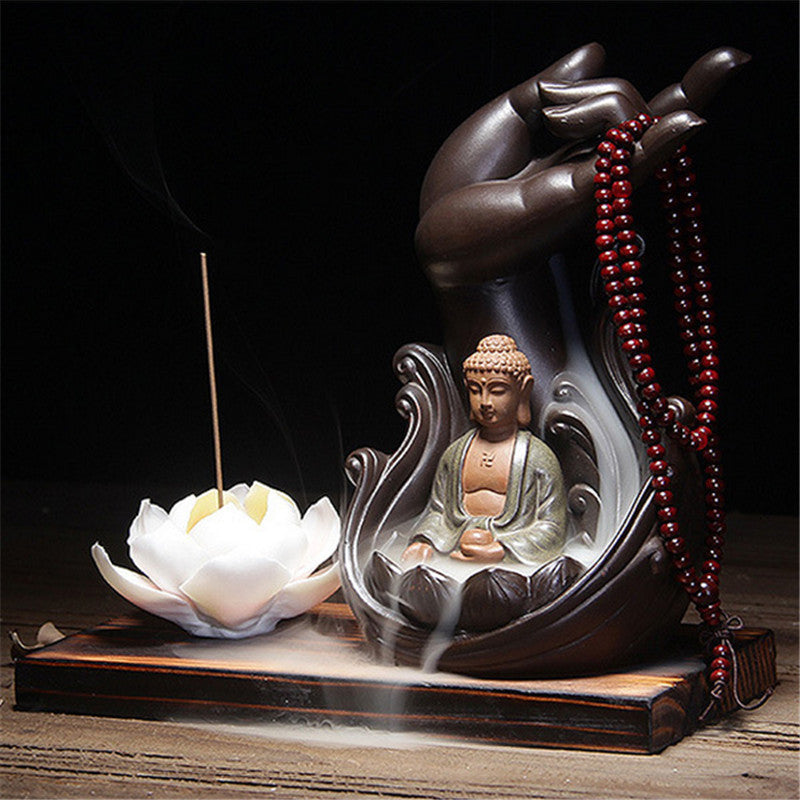 Beautiful Buddhist Backflow Incense Holder