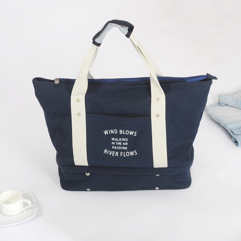 New Foldable Travel Tote Bag With Shoe Compartment