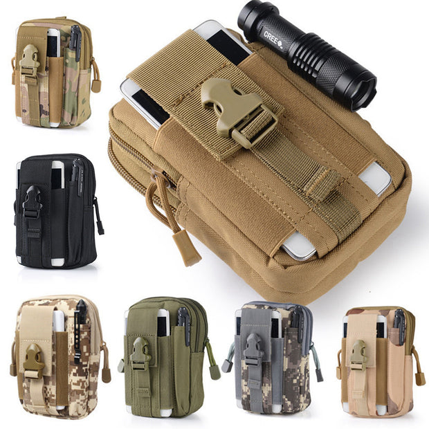 Universal Outdoor Tactical Holster Military Molle Hip Waist Belt Bag with Zipper