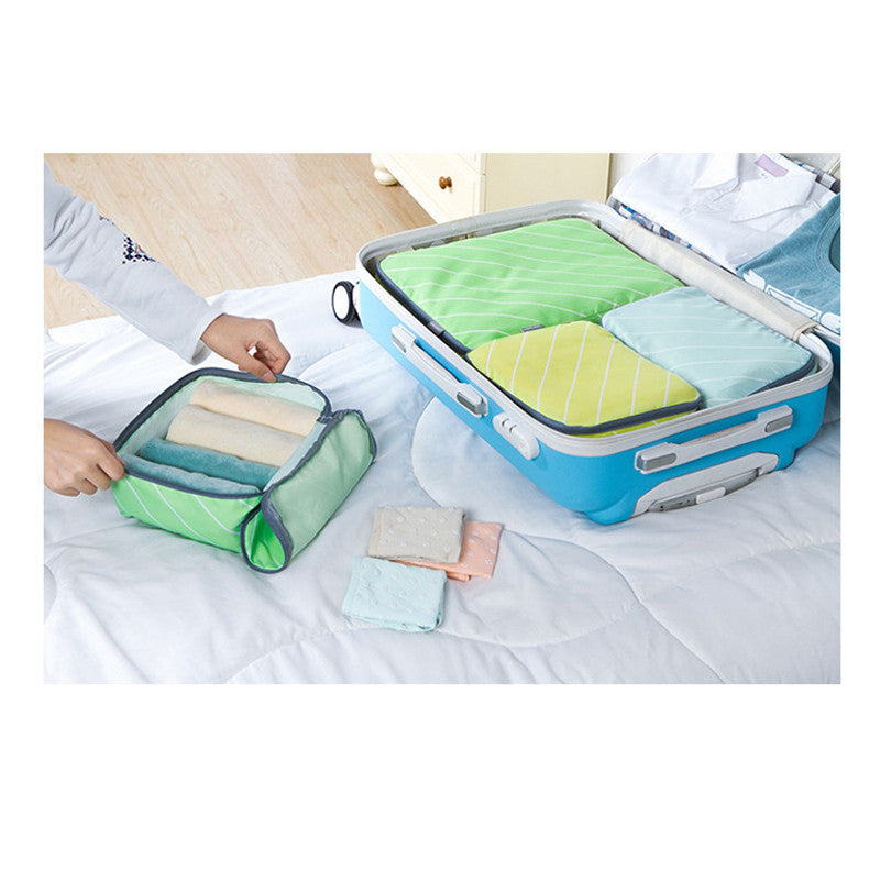 4 pcs Water Resistant Travel Packing Organizer Cubes