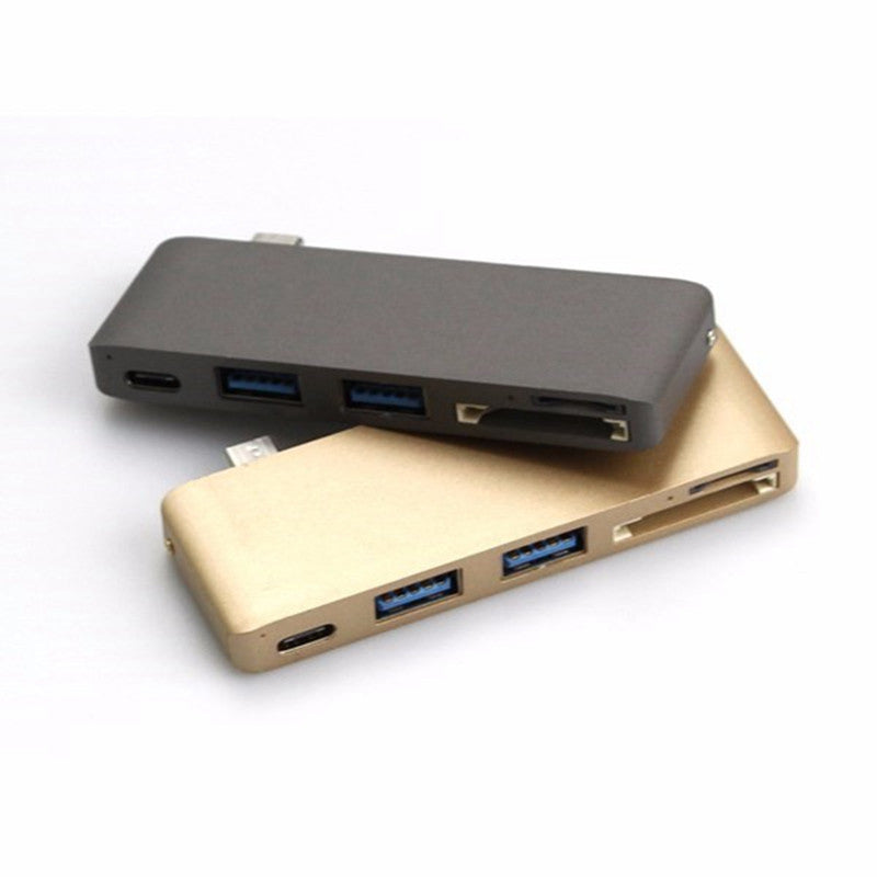 5 In 1 Type-C USB Hub Card Reader With Charging Port