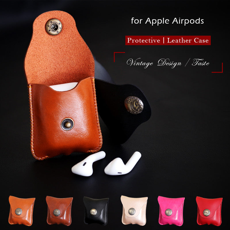 Vintage Apple Airpods Leather Case