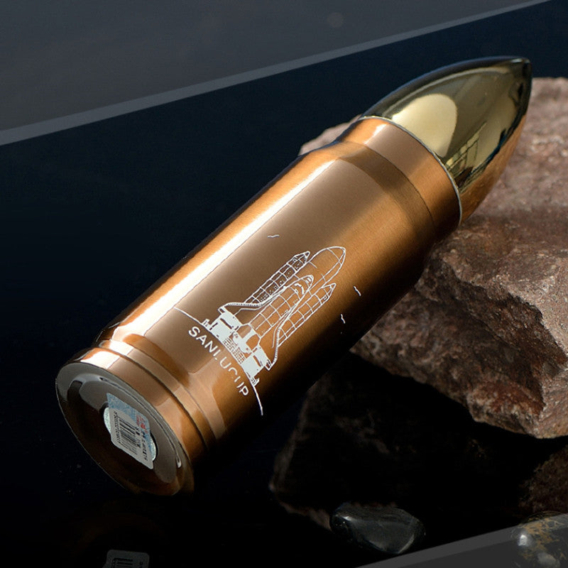 Cool New Bottle Design - Insulated Stainless Steel Rocket Bottle