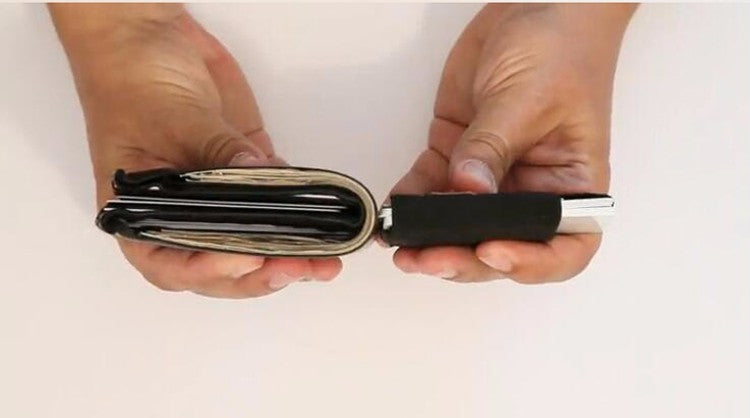 Minimalist Slim Wallet For Credit Cards IDs And Money