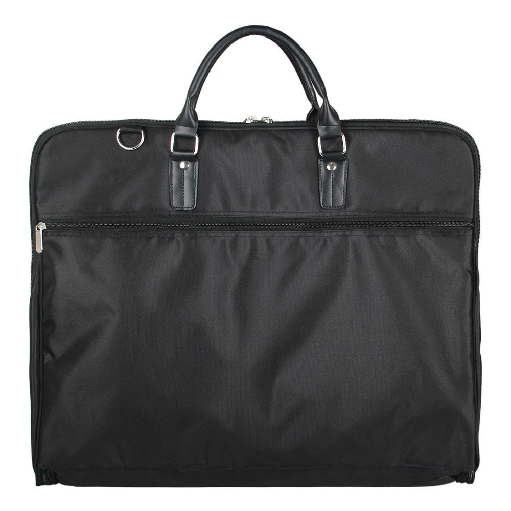 High Quality Folding Garment Bag With Hanger Clamp And Front Pockets For Business Trip or Travel