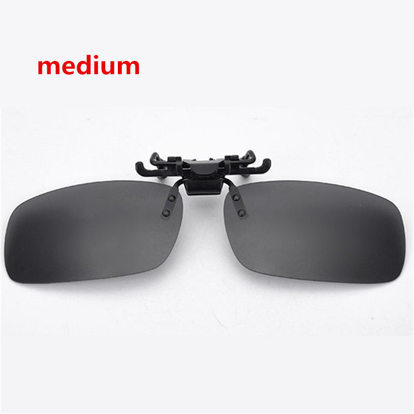 Clip On Flip Up Sunglasses Polarized Frameless Rectangular Lens