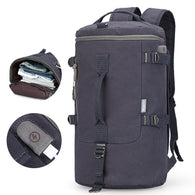 New Stylish High Capacity Cylinder Travel Bag with USB Charging Cable