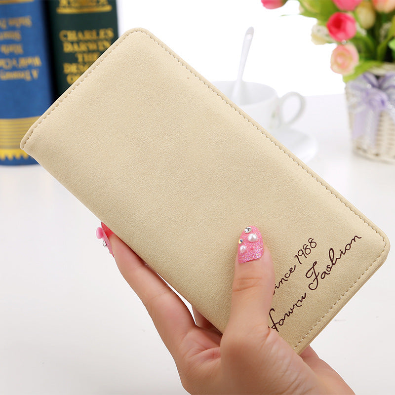 Cute Slim Long Leather Wallet