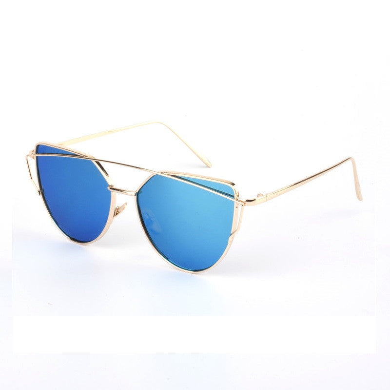 Cat Eye Mirrored Sunglasses