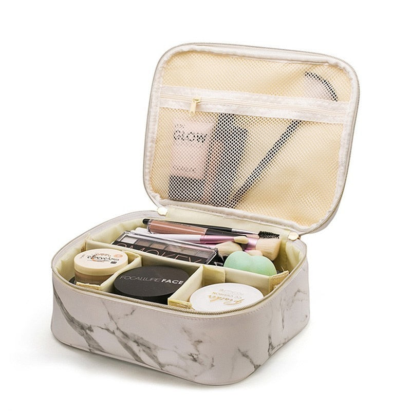 The Organizer Marbly Makeup Bag