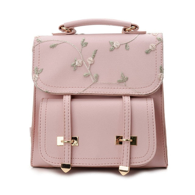 Floral Embroiled Backpack