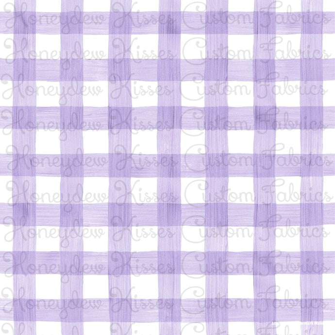 Preorder Watercolor Gingham - Lavender