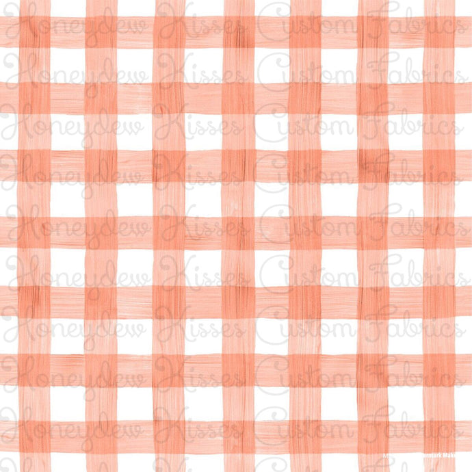Retail Watercolor Gingham - Coral