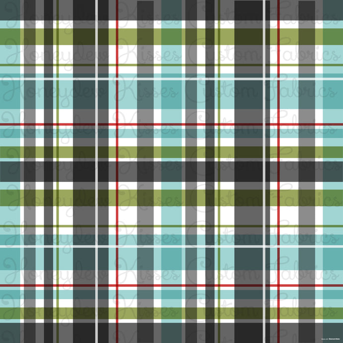 ROUND 1: Red-Nosed Holiday Black Plaid