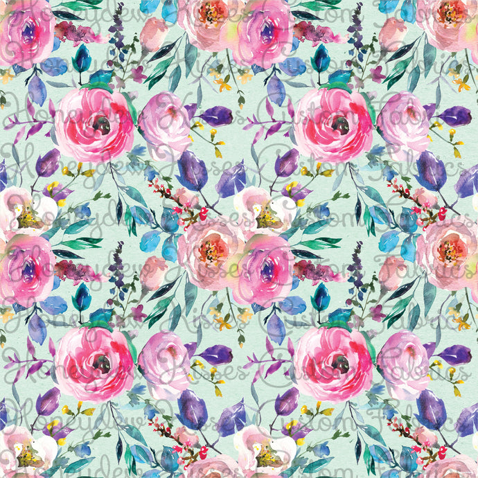 Lovely Florals - Mint