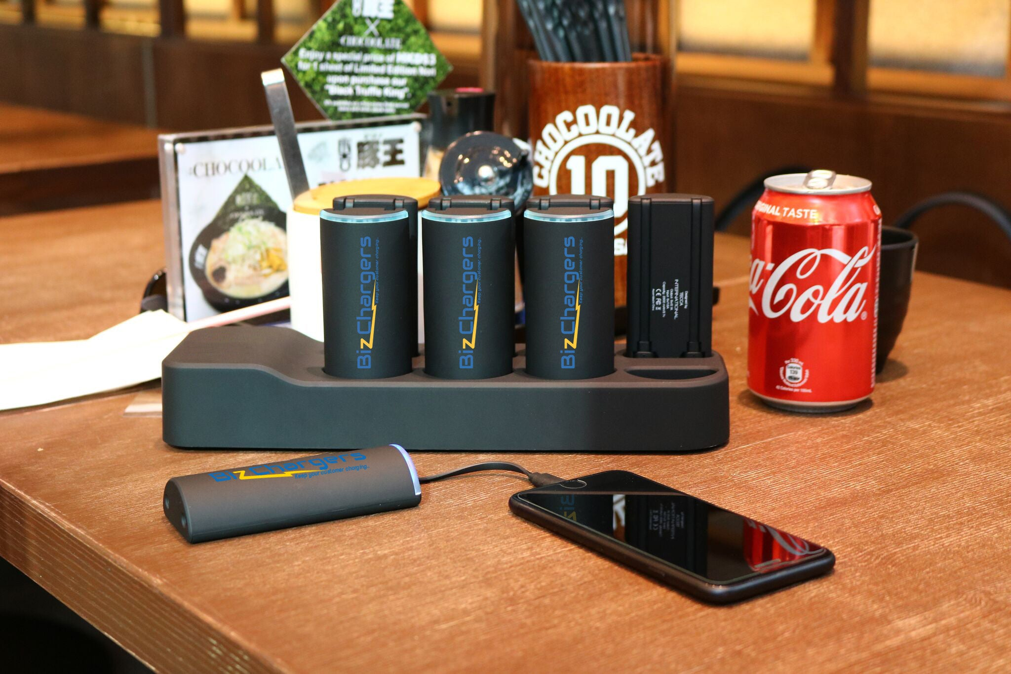 Worlds first portable charging station for commercial use
