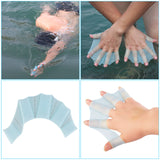 1 Pair Silicone Swim Gear Fins Hand Webbed - Surf Sun Sea