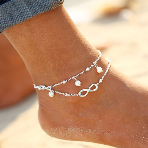 Hot Summer Beach Anklet bracelets for women - Surf Sun Sea