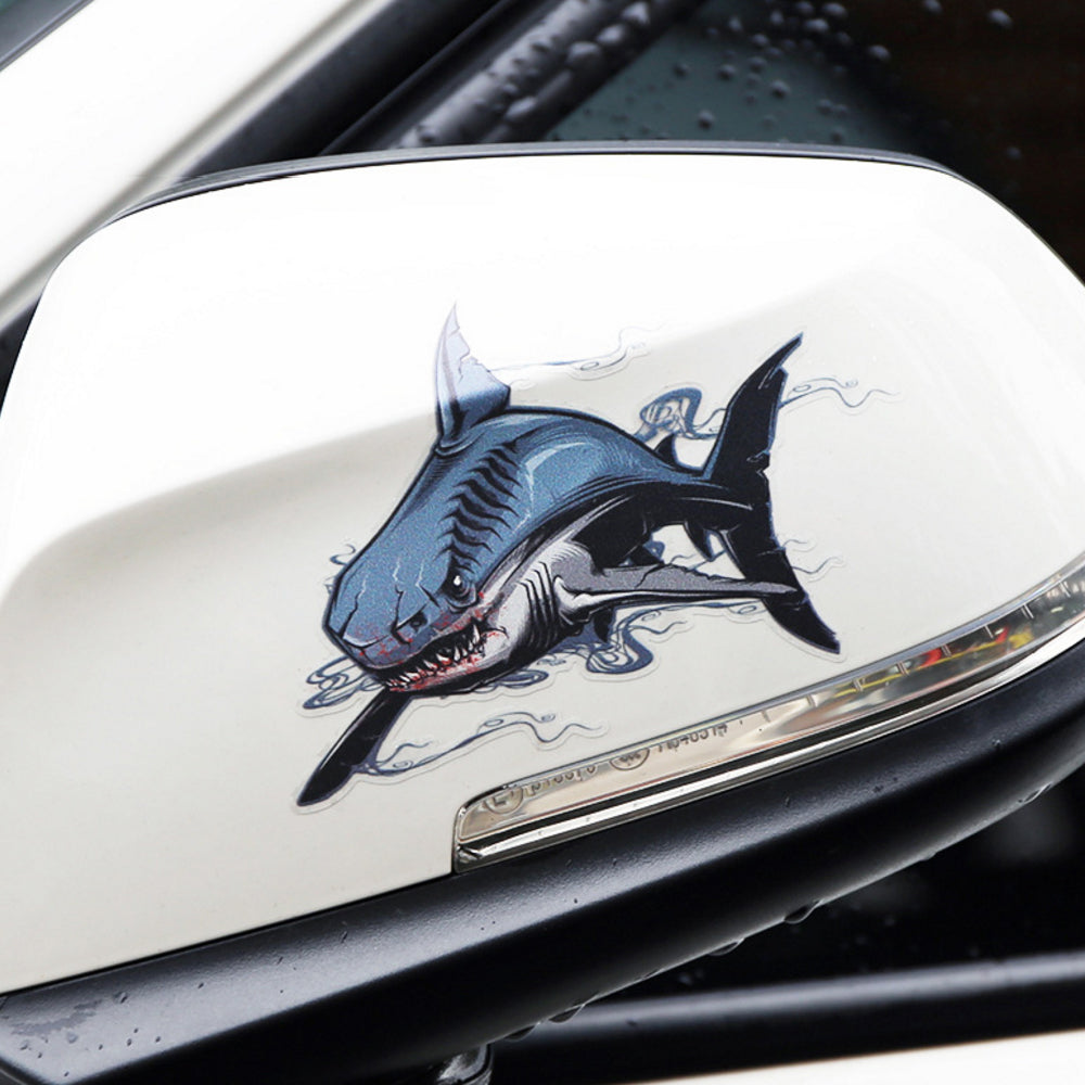 2pcs set savage shark car stickers surf sun sea