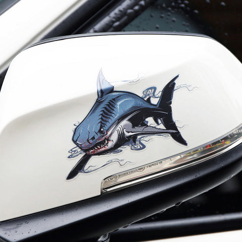 2Pcs/Set Savage Shark Car Stickers - Surf Sun Sea