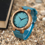 BAMBU BLUE - WOODEN WATCH - Surf Sun Sea