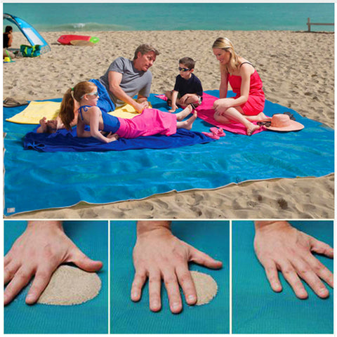 Sand Absorbing Beach Mat - Surf Sun Sea