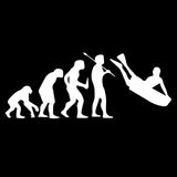 Human Bodyboard Evolution Sticker - Surf Sun Sea