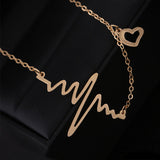 New 2018 Fashion Cute EKG Heart Beat Pendant Necklace - Surf Sun Sea