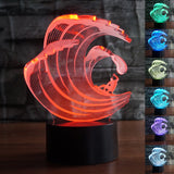 Surfing 3D Optical Illusion Lamp - Surf Sun Sea