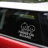 Twins On Board Super Lovable Waterproofing Sticker - Surf Sun Sea