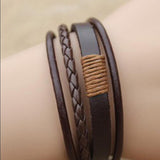 Cool Leather Surfing Waves Bracelet - Surf Sun Sea