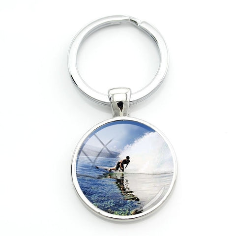 Surfing key Ring - Key Chain - Surf Sun Sea