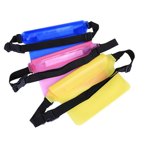Underwater Surfing Waterproof Big Waist Bag Case Cover - Surf Sun Sea
