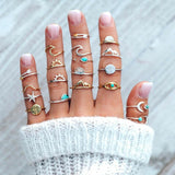 19 Pcs/ Surf Sun Sea Women Rings - Surf Sun Sea
