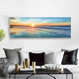 Beautiful Ocean Sunset Seascape Printing For Home Decoration - Surf Sun Sea