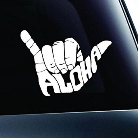 Aloha Shaka Car Sticker - Surf Sun Sea