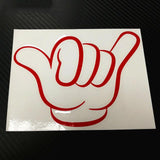 Shaka Hang Loose Sticker - Surf Sun Sea