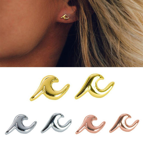 Wave Stud Earrings - Surf Sun Sea