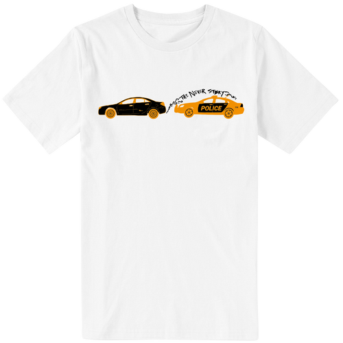 J.I.D. Car Chase White T-Shirt