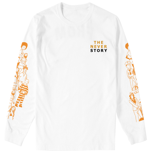 J.I.D TNS Long Sleeve White Tee