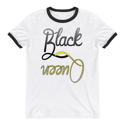 Black Queen Ringer T-Shirt in Black and Yellow