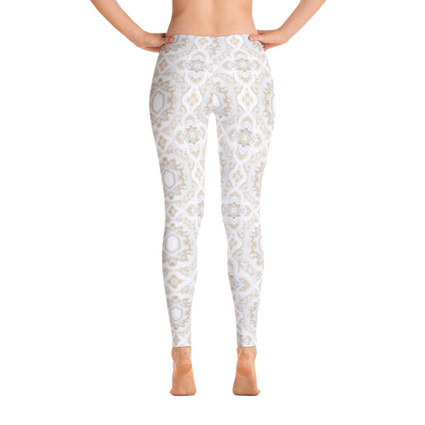 Nude Moroccan Print Women Leggings