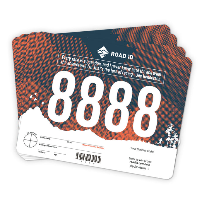 photograph about Printable Race Bibs Free titled Street identity Occasion Sponsorship