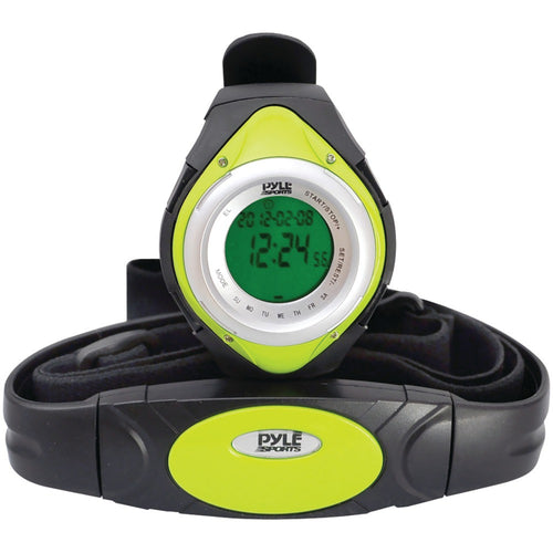 Pyle Pro Heart Rate Monitor Watch With Minimum Average & Maximum Heart Rate (green)